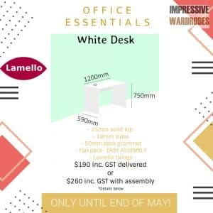 Office Desk with 25mm top DIY ESSENTIALS